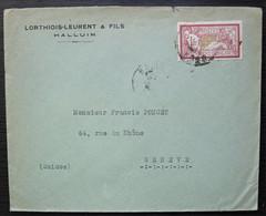 Halluin Nord Lorthiois-Leurent & Fils Lettre Pour Genève Suisse, Avec N°121 Merson Seul Sur Lettre - 1877-1920: Période Semi Moderne