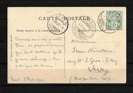 1906 HEIMAT GENÈVE → Postkarte Genève (Rasierklingen-Stempel) Nach Vevey - Covers & Documents