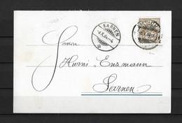 1904 HEIMAT GENÈVE → Private Karte / Besuchsankündigung Steingut-Fabrik Carouge Nach Sarnen - Covers & Documents