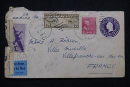 ETATS UNIS - Entier Postal + Compléments De Readins En 1941 Pour La France Avec Contrôle Postal - L 99622 - 1941-60