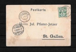 1900 HEIMAT SCHAFFHAUSEN → Postkarte / Bestellung Von Schleitheim Nach St.Gallen - Covers & Documents