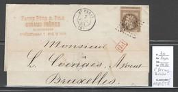 France -Lettre  Yvert 30 - VARIETE - Napoléon 30 Cts Lauré  - Saint Peray - Ardeche 1868 - 1849-1876: Periodo Classico