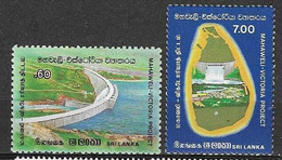Sri Lanka 3 Complete Sets Barrages Hydro Power Dams MNH ** - Sri Lanka (Ceilán) (1948-...)