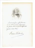 ROSINE LABORDE DITE VILLAUME 1824 PARIS 1907 CHEZY LYRIQUE CHANT  PORTRAIT GRAVE AUTOGRAPHE BIOGRAPHIE ALBUM MARIANI - Historical Documents