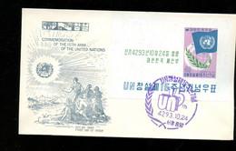 UNO Sheet 1960 On FDC (415) - Corea Del Sud