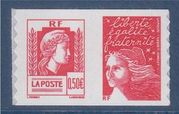 La Marianne D'Alger Marianne De Luquet Dite Du 14 Juillet Autocollant Paire D'un Carnet Mixte N°43 Et 30 Ex 3716 3419 - 1997-04 Marianna Del 14 Luglio
