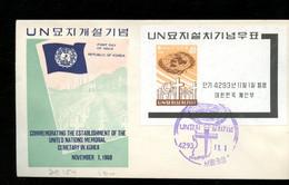 UNO Sheet 1960 On FDC (414) - Corea Del Sud