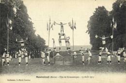 MONTMIRAIL (Marne )Fete De Gymnastique 15 Aout 1913 2  RV - Montmirail