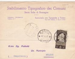Molise (Campobasso) Frazionario 15-65 Del 1937 - Marcofilía