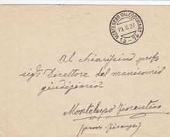 Montenero Valcocchiaro (Campobasso) Frazionario 15-74 Del 1927 Splendido - Marcofilía