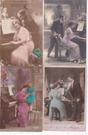 LOT/010.........10 CPA PIANOS - 5 - 99 Postcards