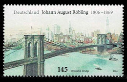 Bund 2006,Michel# 2544 ** Johann August Röbling - Brooklyn Bridge - Ungebraucht