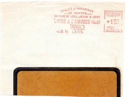 PAS De CALAIS - Dépt N° 62 = LENS 1954 = EMA = BRIQUES Et MATERIAUX DE SCHISTE USINE à DOUVRIN - EMA (Printer Machine)