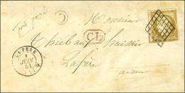 Grille / N° 1 Càd T 15 LA FÈRE (2) + CL Rouge Sur Lettre Adressée Localement. 1851. - TB / SUP. - R. - 1849-1850 Ceres