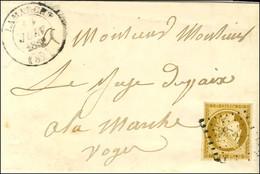 PC 1623 / N° 1 Belles Marges Càd T 14 LAMARCHE (82) Sur Lettre Avec Texte Daté De Fauchecourt, Adressée Localement. 1852 - 1849-1850 Ceres