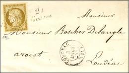PC 1407 / N° 1 Très Belles Marges Càd T 15 LOUDEAC (21) Cursive 21 / Goarec Sur Lettre Locale. 1853. - SUP. - R. - 1849-1850 Ceres