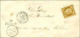 PC 3353 / N° 1 Belles Marges Càd T 15 ARINTHOD (38) Cursive 38 / Thoirette Sur Lettre Locale, Dateur B. 1853. - SUP. - R - 1849-1850 Ceres