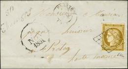 Grille / N° 1 Càd T 15 PRATHOY (50) Cursive 50 / Chassigny Sur Lettre Avec Texte Daté De Mats Le 21 Novembre 1851 Adress - 1849-1850 Ceres