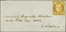 OR / N° 1 (filet Inférieur Effleuré Mais Intact) Sur Petite Lettre Avec Texte Autographe Signé De Guizot Daté Val Richu  - 1849-1850 Ceres
