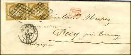 Grille / N° 1 Paire, Marge Courte Mais Filets Non Touchés Càd T 15 VALENCIENNES (57) 6 AOUT 51 Sur Lettre Adressée Au Ta - 1849-1850 Ceres