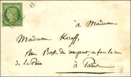 Grille / N° 2 Belles Marges Sur Lettre Avec Texte Daté De Paris Le 3 Octobre 1851, Adressée Localement. Au Verso, Càd D' - 1849-1850 Ceres