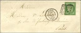 Grille / N° 2 Belles Marges Càd PARIS (60) 29 NOV. 50 Sur Enveloppe Avec Texte Adressée Localement. - SUP. - R. - 1849-1850 Ceres