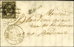 Cursive 23 / St-Alvère + Plume + Càd T 14 LE BUGUE (23) 8 JANV. 1849 / N° 3 Superbes Marges (Cursive Répétée à Côté) Sur - 1849-1850 Ceres