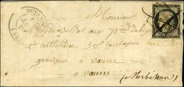 Plume / N° 3 (filet Effleuré) Càd T 14 PUTANGES (59) 10 JANV. 1849 Sur Lettre Adressée à Un Militaire à Vannes. Le Timbr - 1849-1850 Ceres