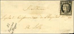 Grille / N° 3 Belles Marges Cursive 57 / Fournes- / En-Weppes Sur Lettre Pour Lille. - TB / SUP. - R. - 1849-1850 Ceres