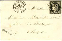 Grille / N° 3 (leg Def) Càd T 15 Ste SCOLASSE-S-SARTHE 28 MARS 49 Cursive 59 / Courtomer (bureau De Distribution Jusqu'e - 1849-1850 Ceres