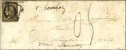 Grille / N° 3 Sur Lettre Avec Texte Daté D'une Localité Près De Bourges Le 28 Juin 1850 Pour Lombez (Gers). La Lettre Es - 1849-1850 Ceres