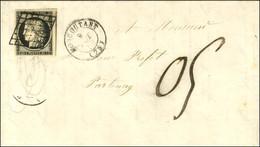 Grille / N° 3 Superbes Marges Càd T 15 MONCOUTANT (75) 9 OCT. 50 Sur Lettre Avec Texte Pour Parthenay, Au Recto Taxe 05  - 1849-1850 Ceres