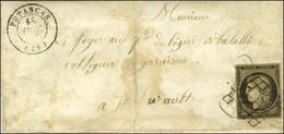 Grille / N° 3 Càd T 15 PUTANGES (59) 10 OCT. 50 Sur Lettre Adressée Au Tarif Réduit De Militaire à Un Voltigeur. - TB. - - 1849-1850 Ceres