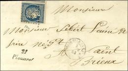 PC 2466 / N° 4 Belles Marges Càd T 15 BELLE-ISLE-EN-TERRE (21) Cursive 21 / Plouaret Sur Lettre Pour Saint Brieuc. - SUP - 1849-1850 Ceres