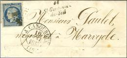 PC 3093 / N° 4 Très Belles Marges Càd T 13 LA CANOURGUE (46) Cursive 46 / St Germain- / Du-Teil Sur Lettre Avec Texte Po - 1849-1850 Ceres