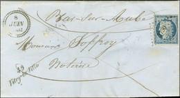 PC 3750 / N° 4 (filet Effleuré) Cursive 49 / Vitry-la-Ville Sur Lettre Avec Texte Pour Bar-sur-Aube, Dateur B. 1852. - T - 1849-1850 Ceres