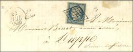 Grille / N° 4 Cursive 59 / Ceton Sur Lettre Avec Texte Pour Dieppe, Dateur A. 1850. - SUP. - R. - 1849-1850 Ceres
