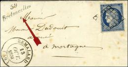 Grille / N° 4 Belles Marges Càd T 14 REMALARD (59) Cursive 59 / Bretoncelles Sur Lettre Avec Texte Pour Mortagne. 1851.  - 1849-1850 Ceres
