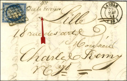 Grille / N° 4 Belles Marges Càd T 15 LAIGLE (59) Cursive 59 / Glos La Ferrière Sur Lettre Avec Texte Pour Lille. 1851. - - 1849-1850 Ceres