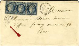 Grille / N° 4 (3, 2ex Def) Cursive 83 / La Roche / St Cydroine Sur Lettre Pour Paris. Dateur B. 1851. - TB. - R. - 1849-1850 Ceres