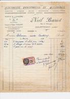 Facture électricité NOEL BARIOT   à COURTENAY 45 Loiret - 1900 – 1949
