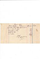 Facturette Papiers Peints MARCOU Entreprise De Peinture   à COURTENAY 45 Loiret - 1900 – 1949