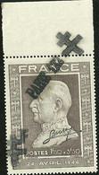 FRANCE LIBERATION .RR.. PARIS 122. . 1f50 + 3f50 (606) Sge Main + BDF Avec CAD. Signé P MAYER - Liberación