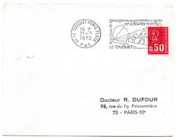 PAS De CALAIS - Dépt N° 62 = LE TOUQUET PARIS PLAGE 1972 =  FLAMME SECAP Illustrée  'CONGRES PEDAGOGIQUE' Sur ENVELOPPE - Annullamenti Meccanici (pubblicitari)