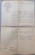 LETTRE MINISTÈRE DE LA GUERRE 14 SEPTEMBRE 1871 MAGNAC LAVAL HAUTE VIENNE NOUVELLE AQUITAINE - Andere