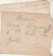 Cachet Trésor Et Postes 13 Du 10/10/1914 Lettre De La Marne Pour Gaillac Tarn - WW I