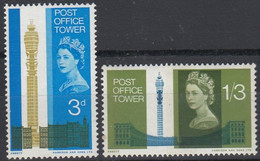 1965 Great Britain, Opening Of Post Office Tower Complete Set 2 Values MNH - British Indian Ocean Territory (BIOT)