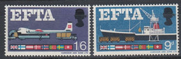 1967 Great Britain, EFTA Complete Set 2 Values MNH - British Indian Ocean Territory (BIOT)