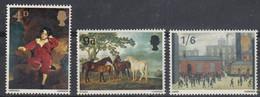 1967 Great Britain, Paintings Complete Set 3 Values MNH - British Indian Ocean Territory (BIOT)