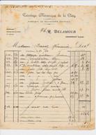 Facture Tricotage Mécanique De La Cléry DELAMOUR  à COURTENAY 45 Loiret - 1900 – 1949